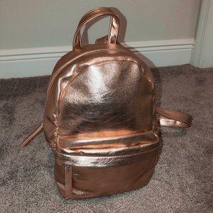 rose gold mini backpack